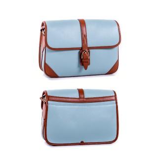 Lea flap bag