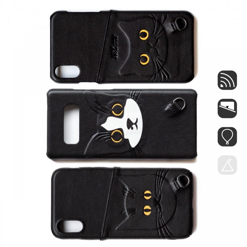 BC18|黑白貓手機殼