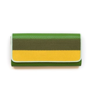 color block wallet